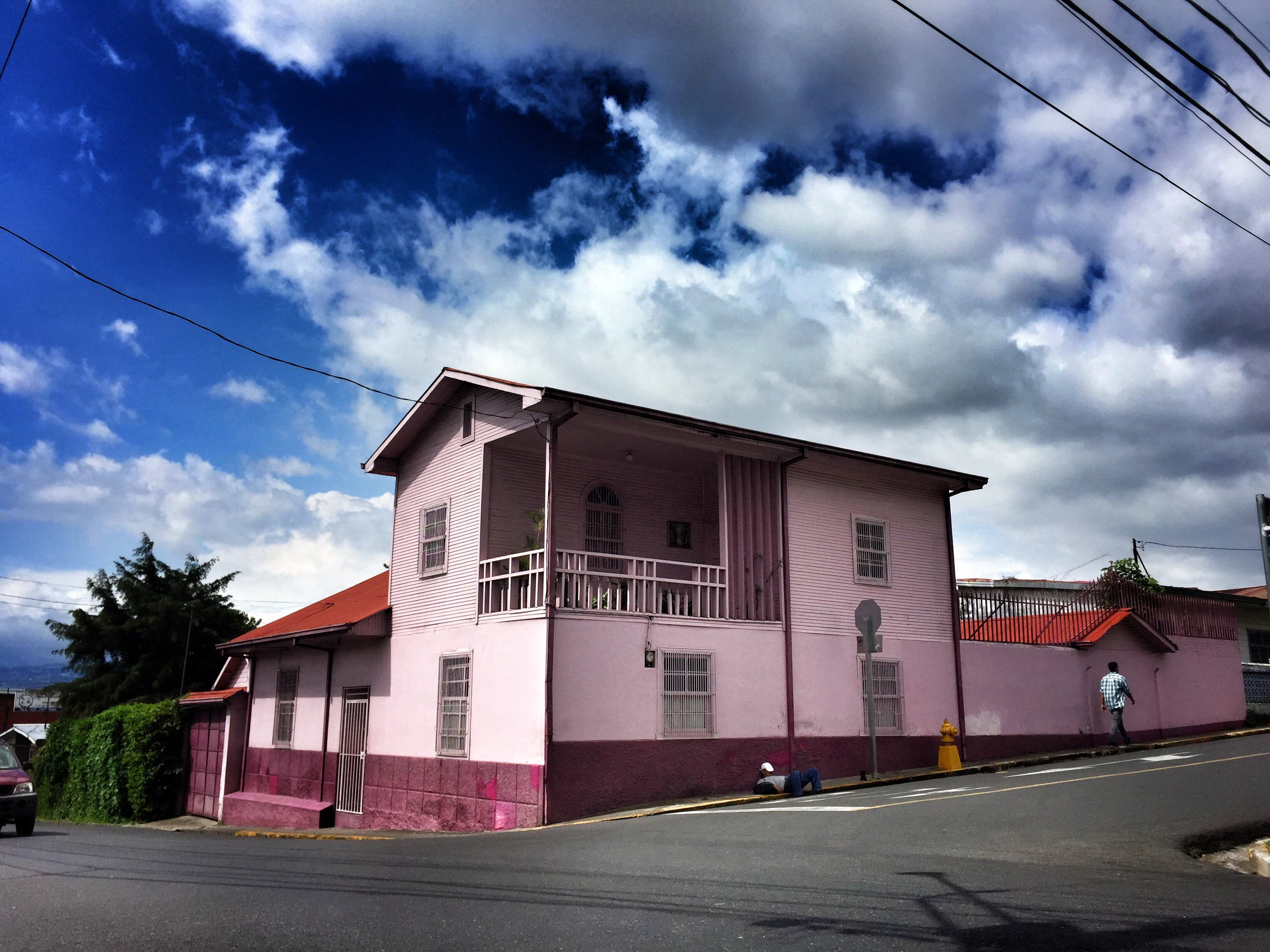 I love my saturation tool but this  house was actually this bright pink.