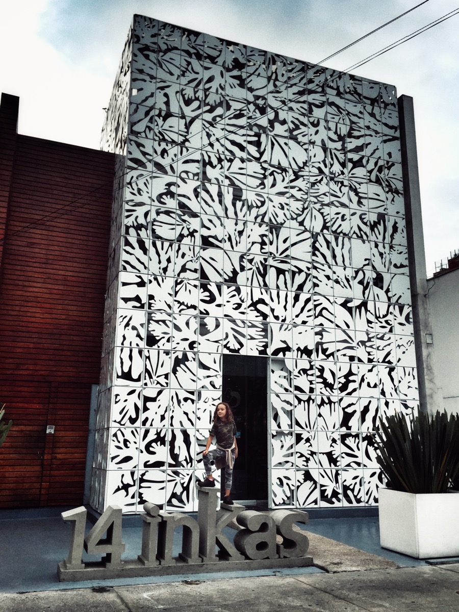 A beautiful laser-cut facade for a mediocre restaurant.